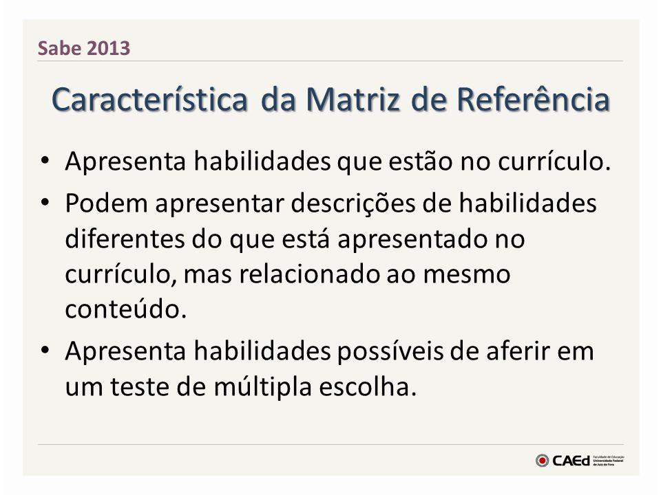 Característica da Matriz de Referência
