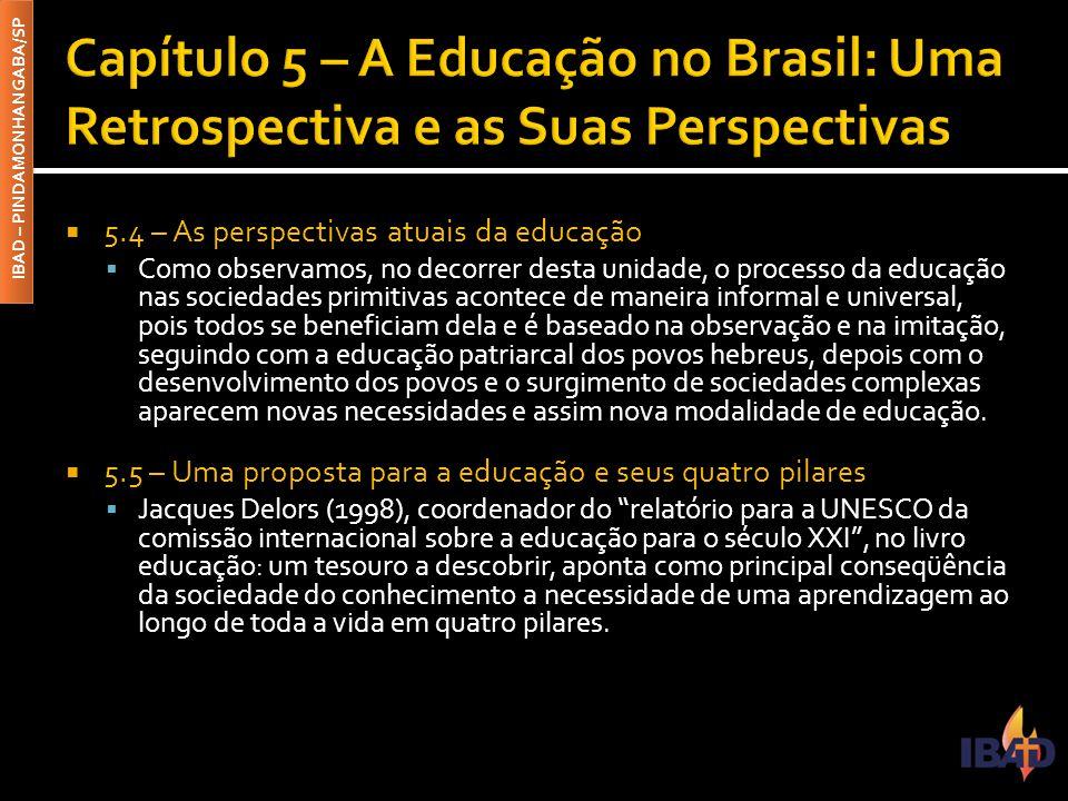 Capítulo 5 – A Educação no Brasil: Uma Retrospectiva e as Suas Perspectivas