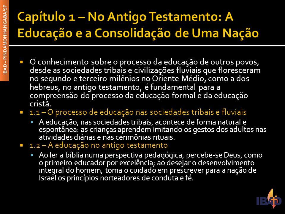 Capítulo 1 – No Antigo Testamento: A Educação e a Consolidação de Uma Nação