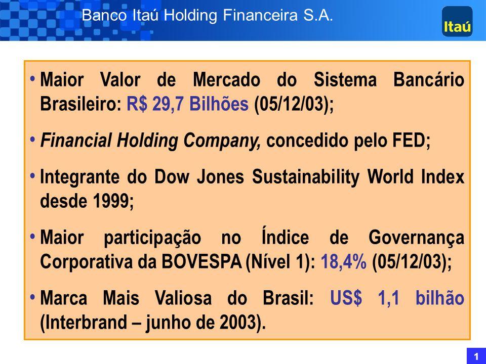 Financial Holding Company, concedido pelo FED;