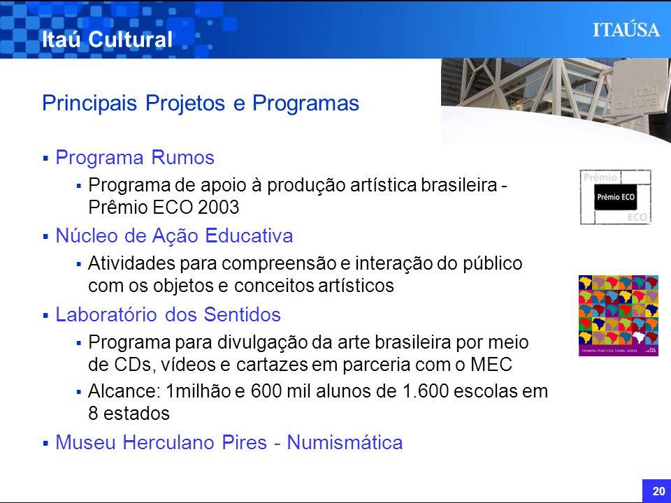 Principais Projetos e Programas