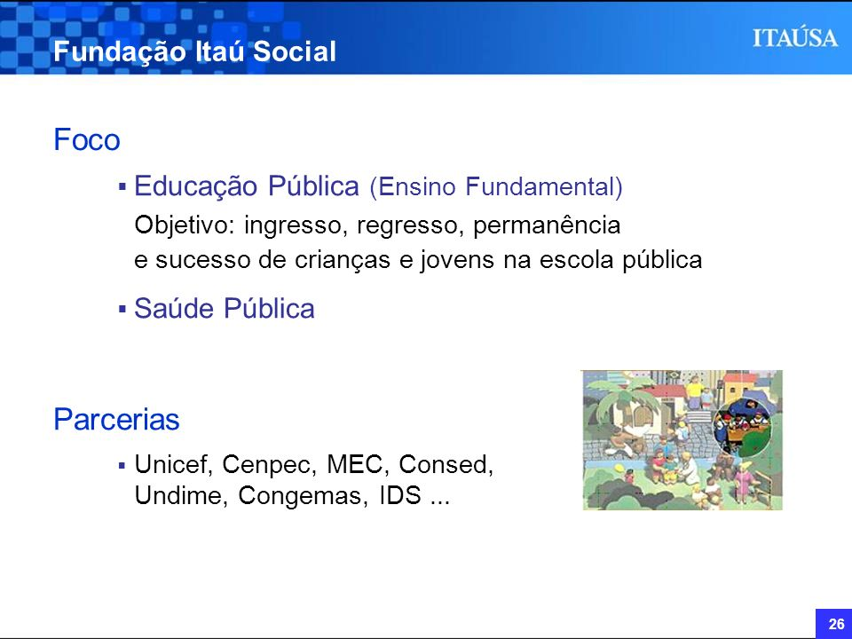 Foco Parcerias Fundação Itaú Social