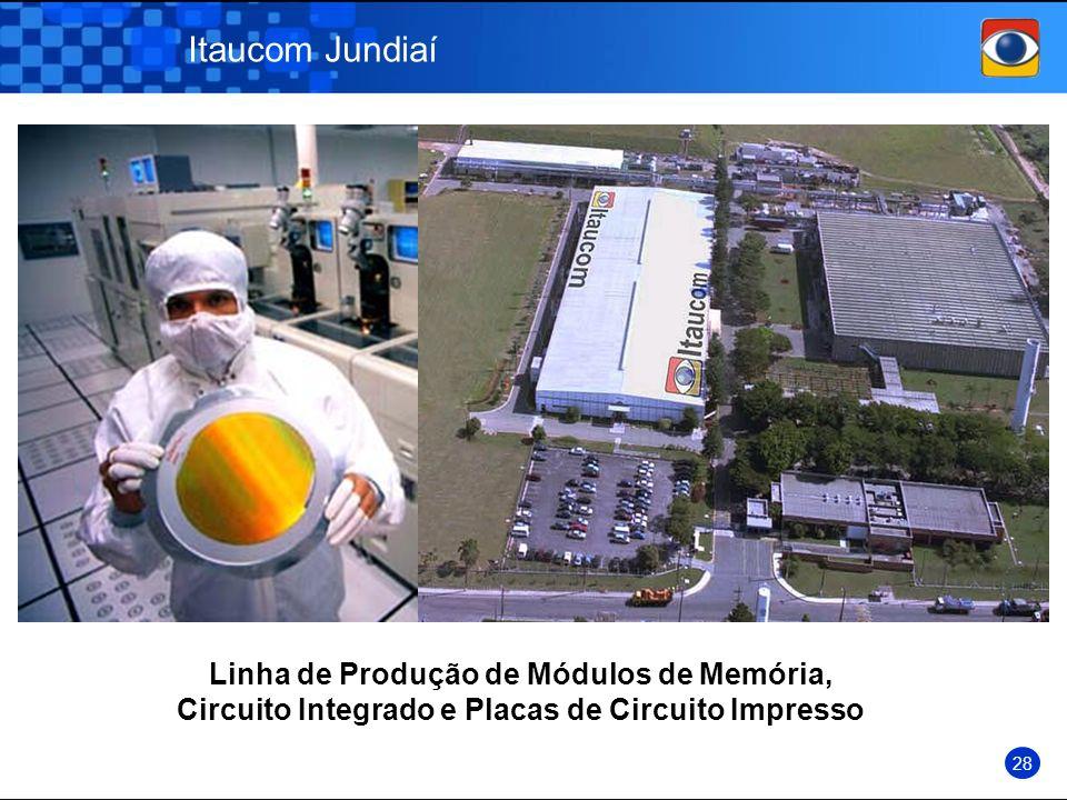 Itaucom Jundiaí Linha de Produção de Módulos de Memória, Circuito Integrado e Placas de Circuito Impresso.