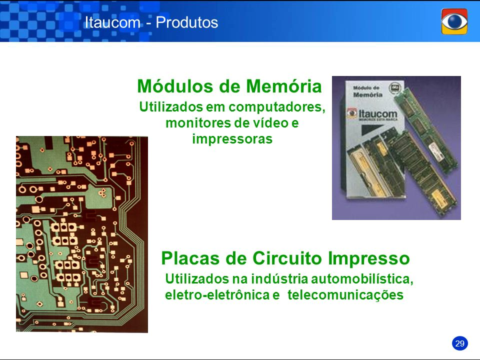 Utilizados em computadores, monitores de vídeo e impressoras