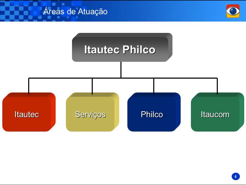 Áreas de Atuação Itautec Philco Itautec Serviços Philco Itaucom 4