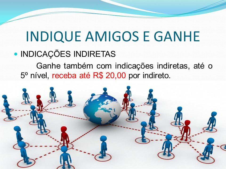 INDIQUE AMIGOS E GANHE INDICAÇÕES INDIRETAS