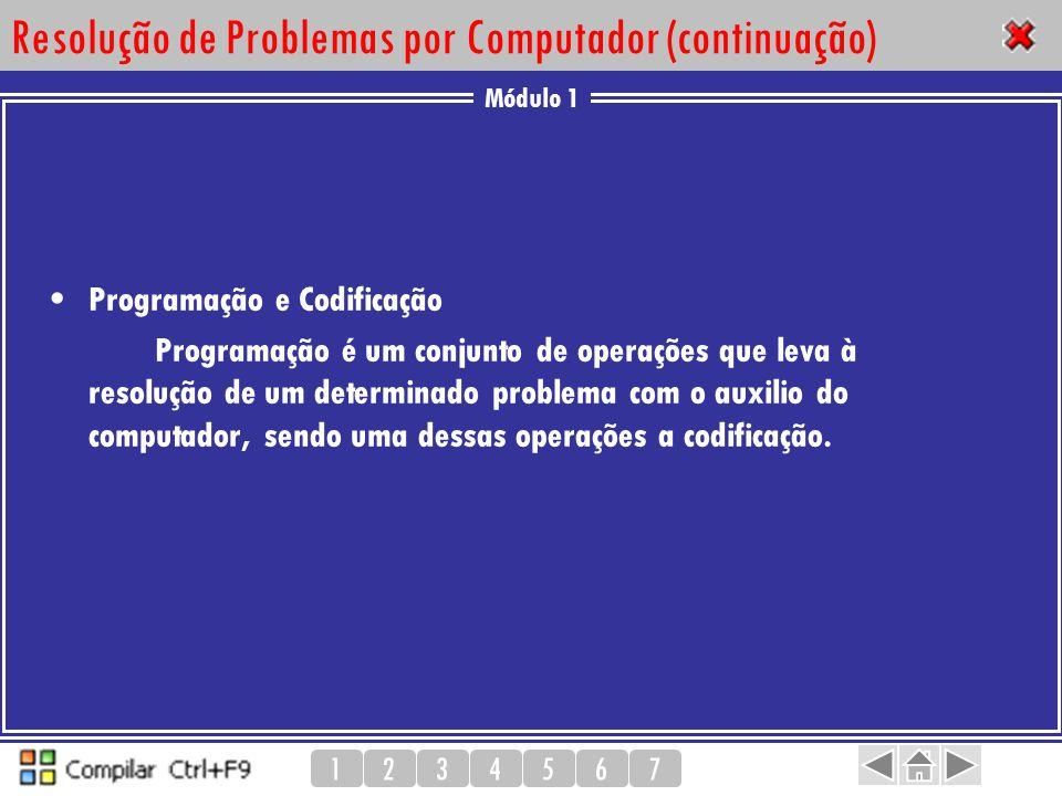 Resolução de Problemas por Computador (continuação)