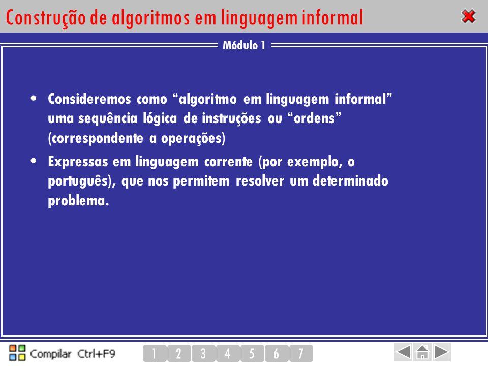 Construção de algoritmos em linguagem informal