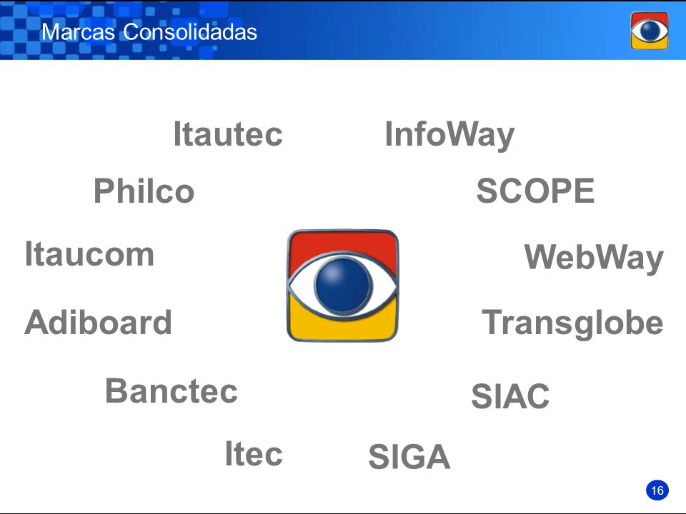 Itautec InfoWay Philco SCOPE Itaucom WebWay Adiboard Transglobe