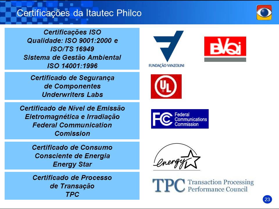 Certificações da Itautec Philco