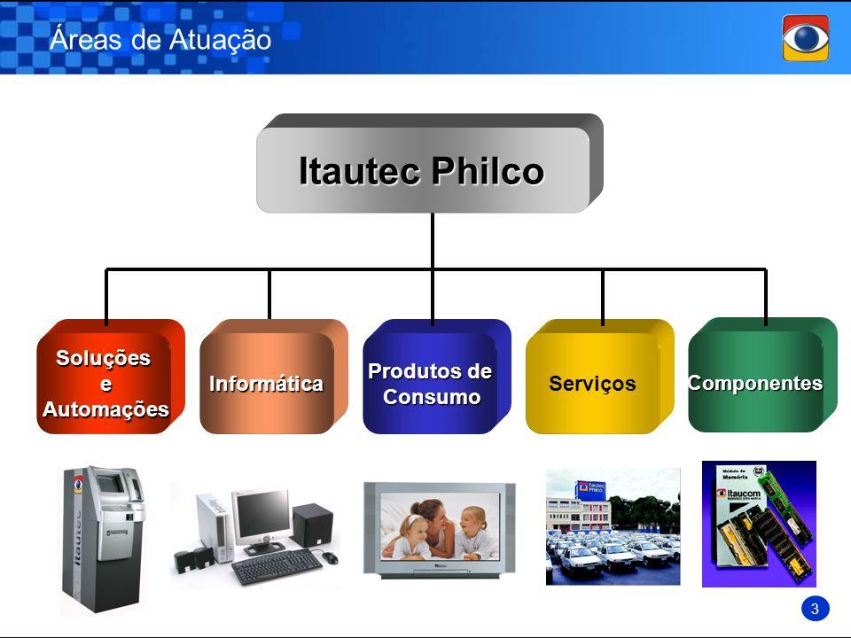 Itautec Philco Áreas de Atuação Soluções e Automações Informática