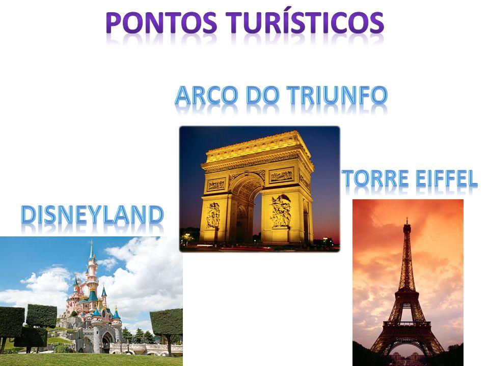 Pontos turísticos Arco do triunfo Torre eiffel Disneyland