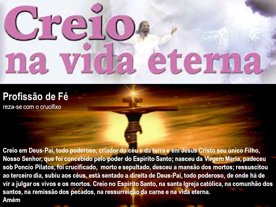 Profissão de Fé reza-se com o crucifixo