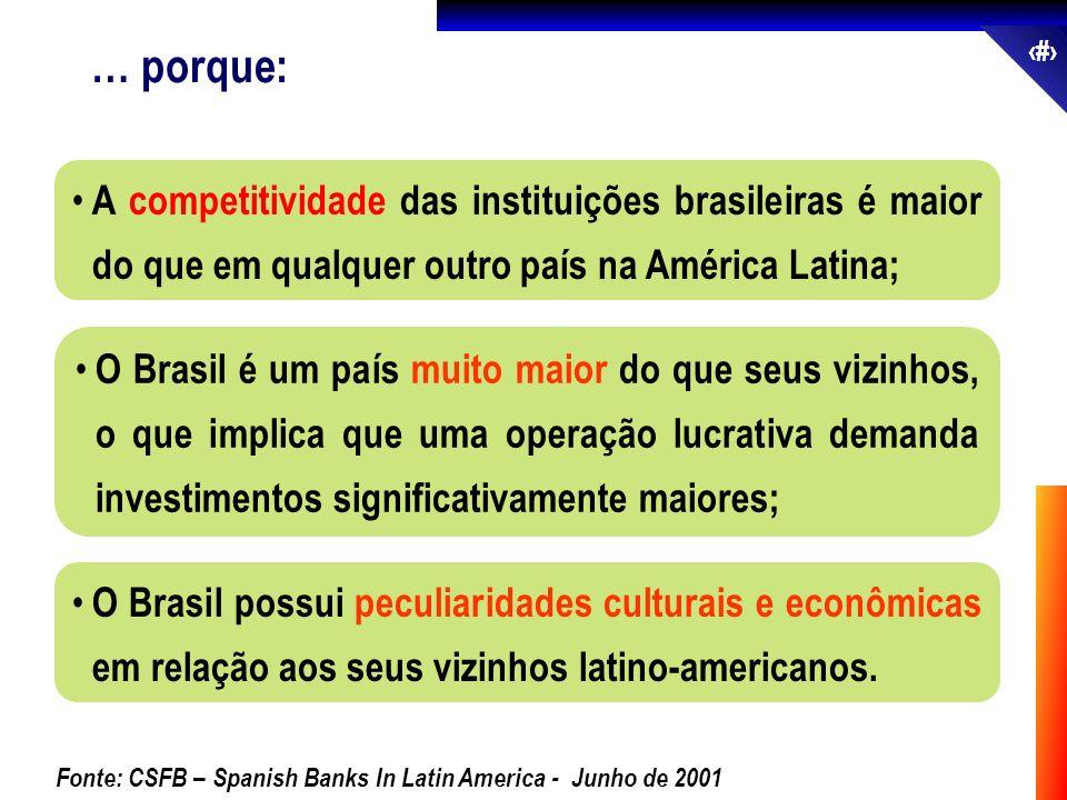 … porque: A competitividade das instituições brasileiras é maior do que em qualquer outro país na América Latina;