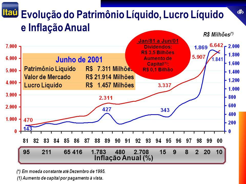 Evolução do Patrimônio Líquido, Lucro Líquido e Inflação Anual