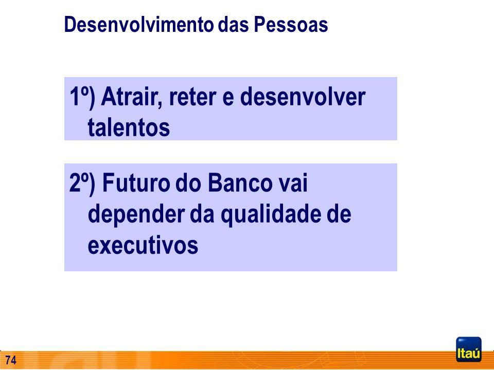 1º) Atrair, reter e desenvolver talentos