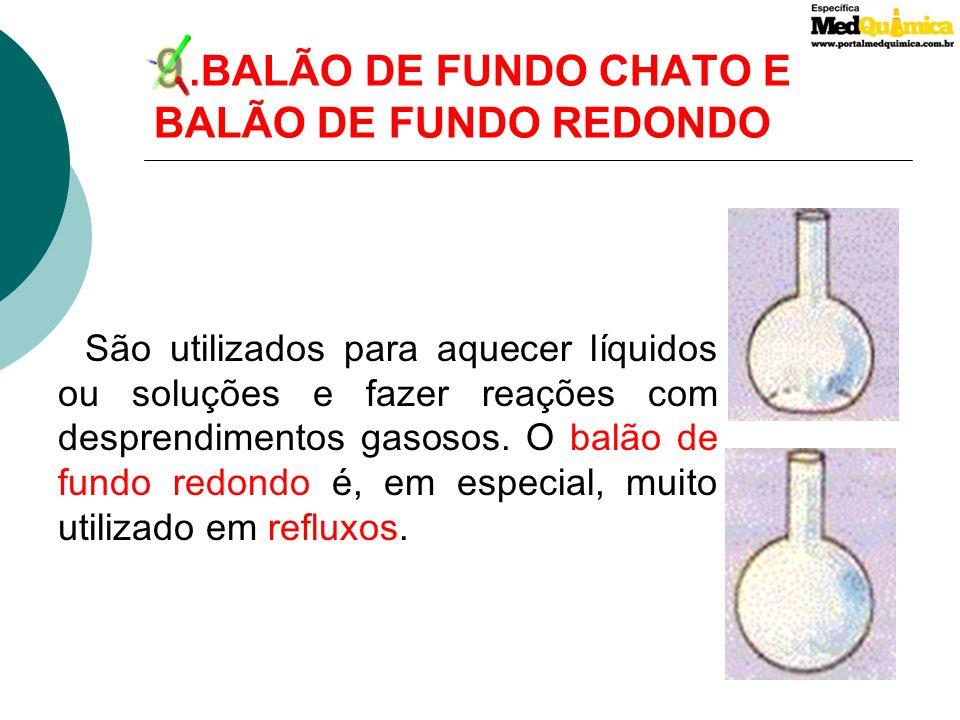 9 .BALÃO DE FUNDO CHATO E BALÃO DE FUNDO REDONDO