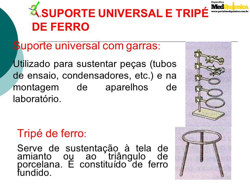 3.SUPORTE UNIVERSAL E TRIPÉ DE FERRO