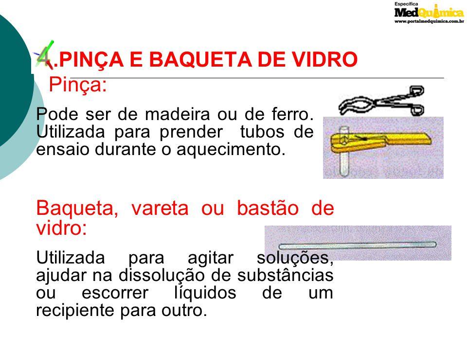 4 .PINÇA E BAQUETA DE VIDRO