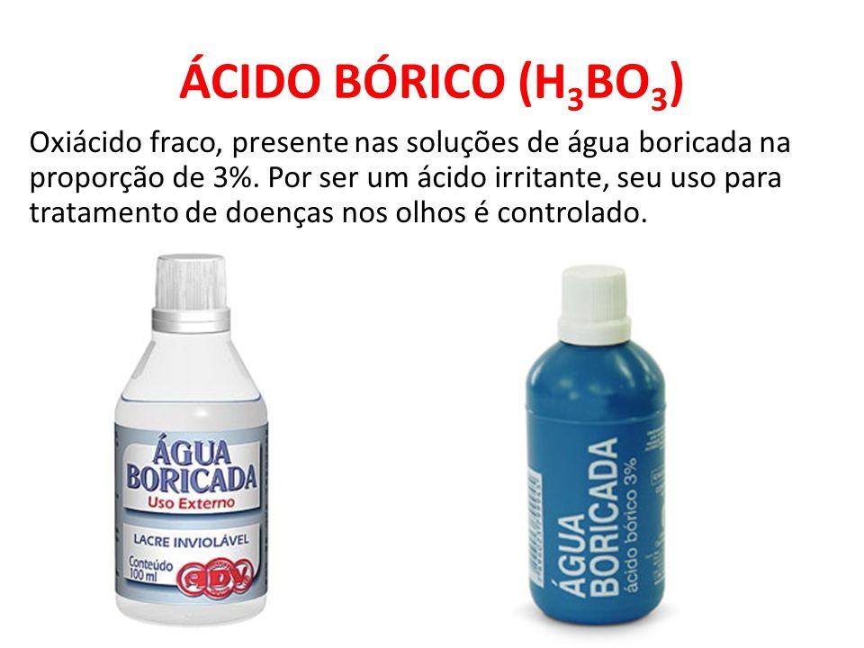 ÁCIDO BÓRICO (H3BO3)