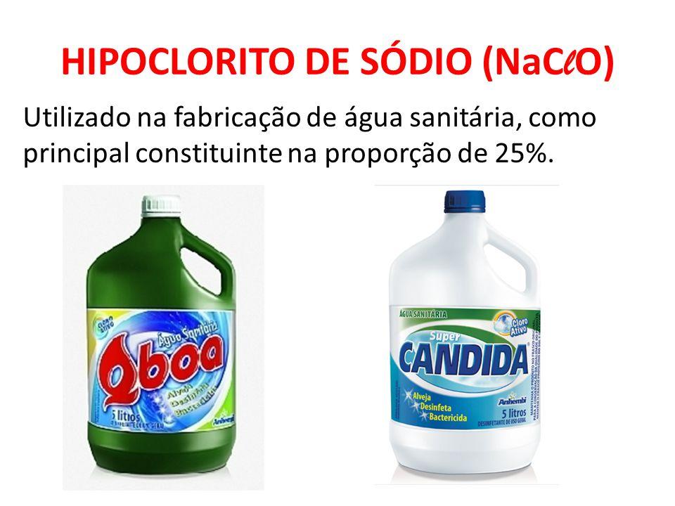 HIPOCLORITO DE SÓDIO (NaClO)