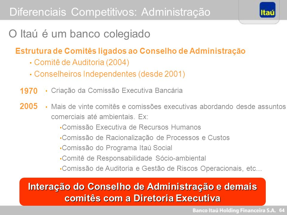 Diferenciais Competitivos: Administração