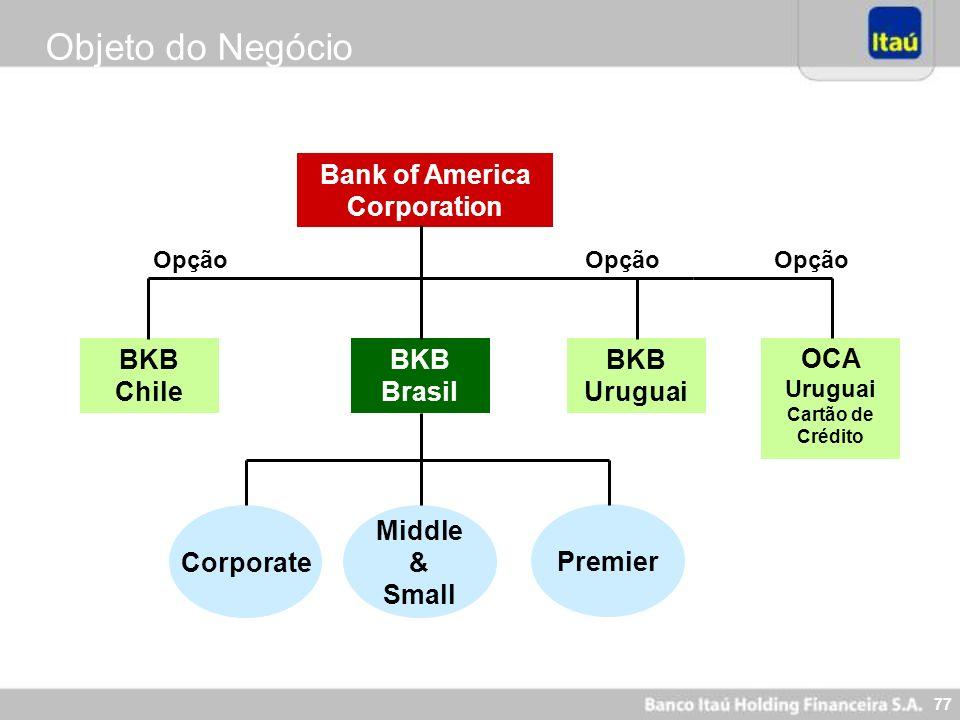 Objeto do Negócio Bank of America Corporation BKB Chile BKB Brasil BKB