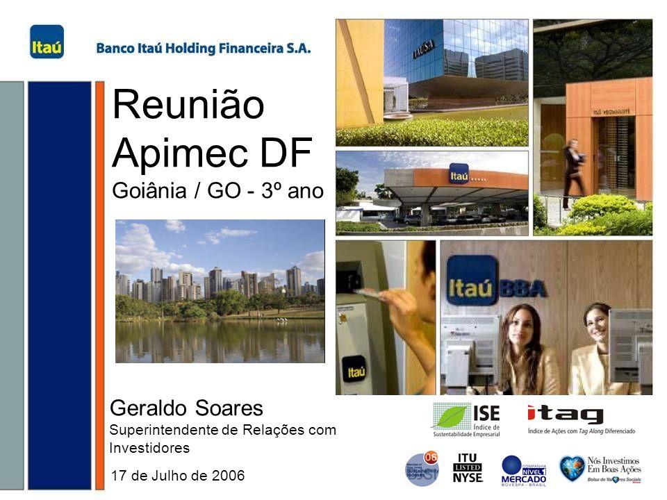 Reunião Apimec DF Goiânia / GO - 3º ano Geraldo Soares