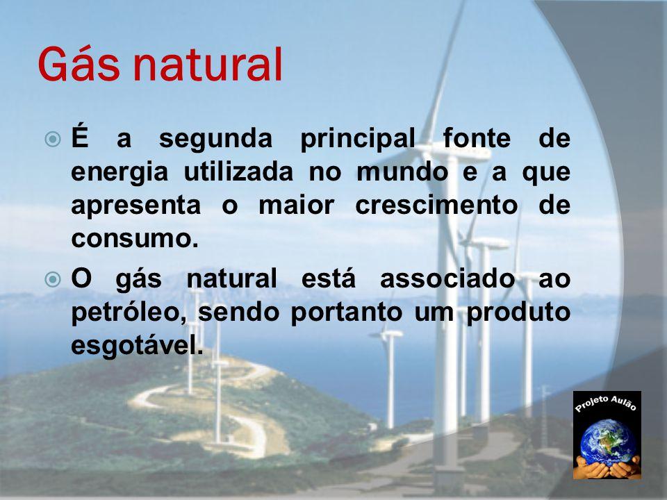 Gás natural É a segunda principal fonte de energia utilizada no mundo e a que apresenta o maior crescimento de consumo.