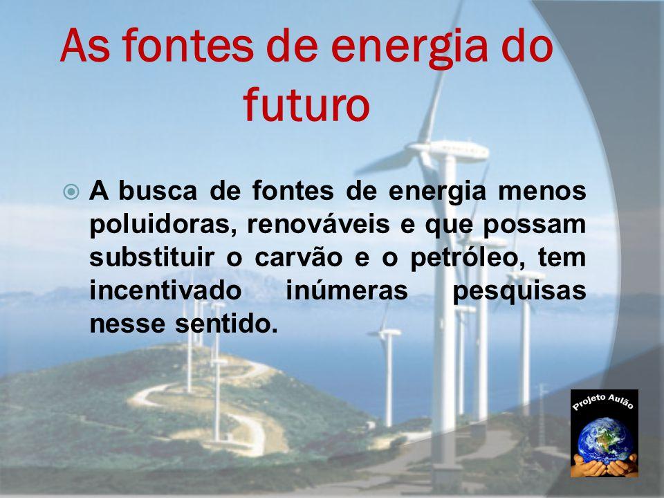 As fontes de energia do futuro