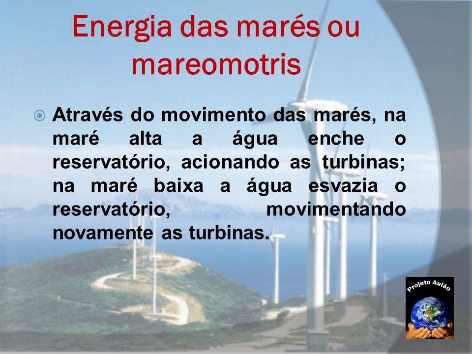 Energia das marés ou mareomotris