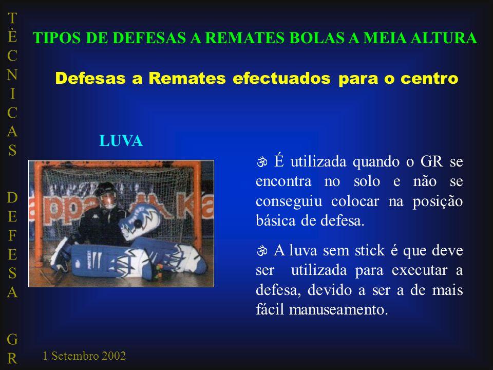 TIPOS DE DEFESAS A REMATES BOLAS A MEIA ALTURA