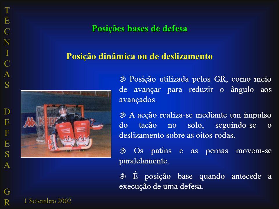 Posições bases de defesa Posição dinâmica ou de deslizamento