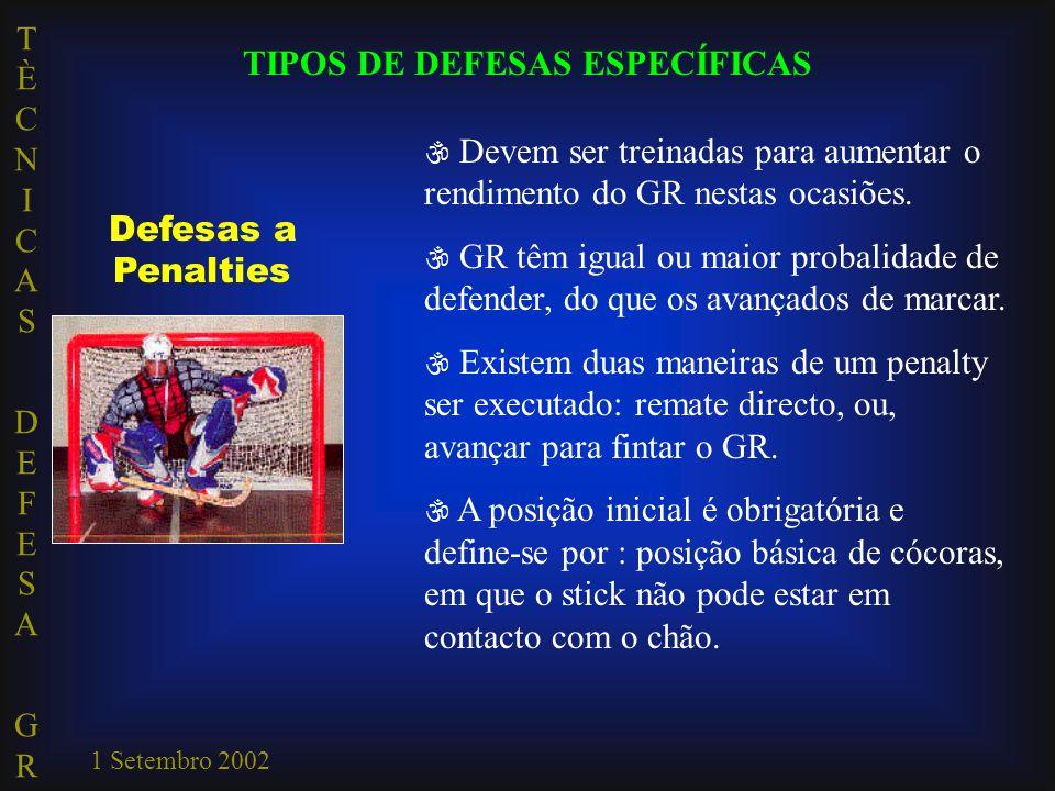 TIPOS DE DEFESAS ESPECÍFICAS