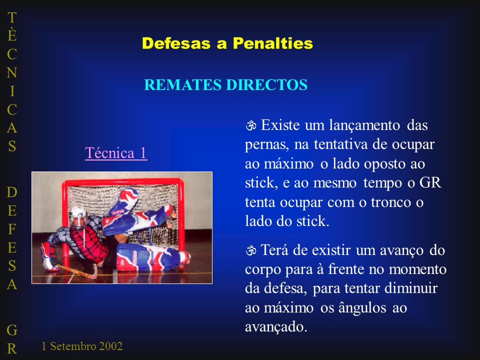 Defesas a Penalties REMATES DIRECTOS Técnica 1