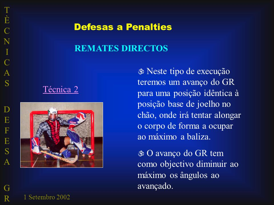 Defesas a Penalties REMATES DIRECTOS Técnica 2