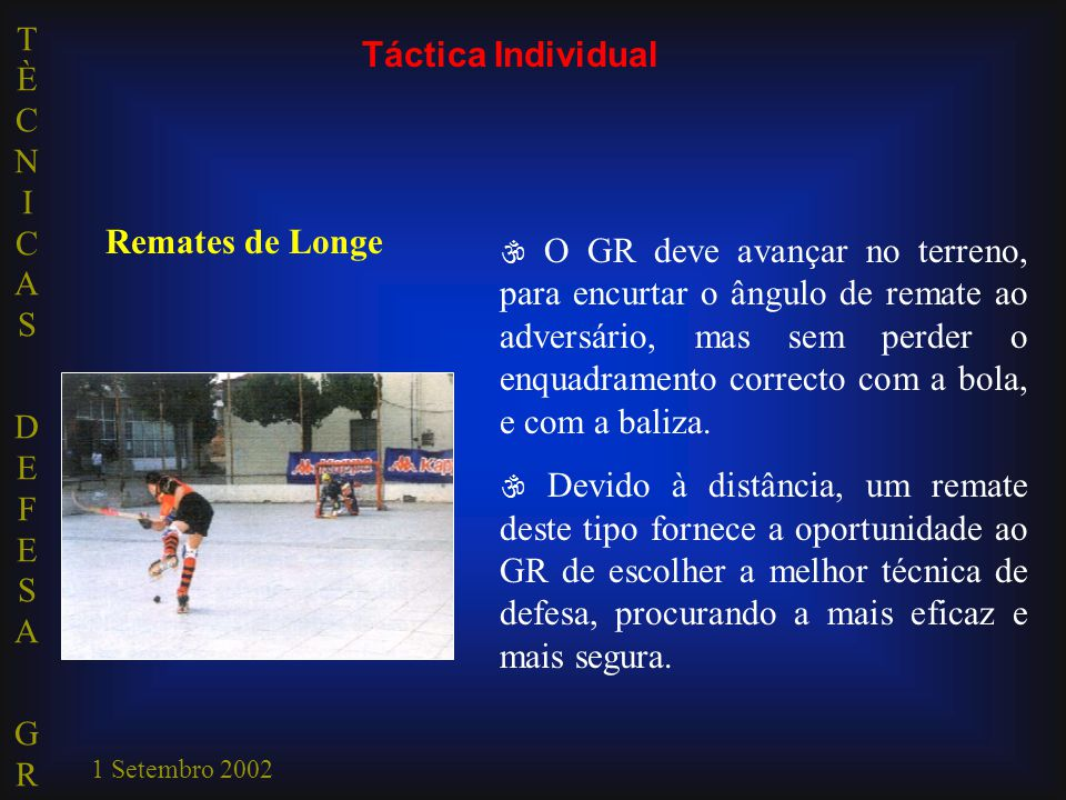 Táctica Individual Remates de Longe