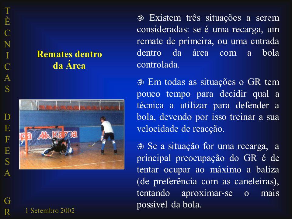  Existem três situações a serem consideradas: se é uma recarga, um remate de primeira, ou uma entrada dentro da área com a bola controlada.