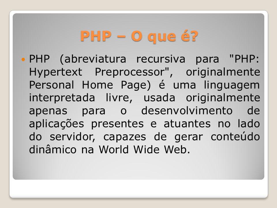 PHP – O que é