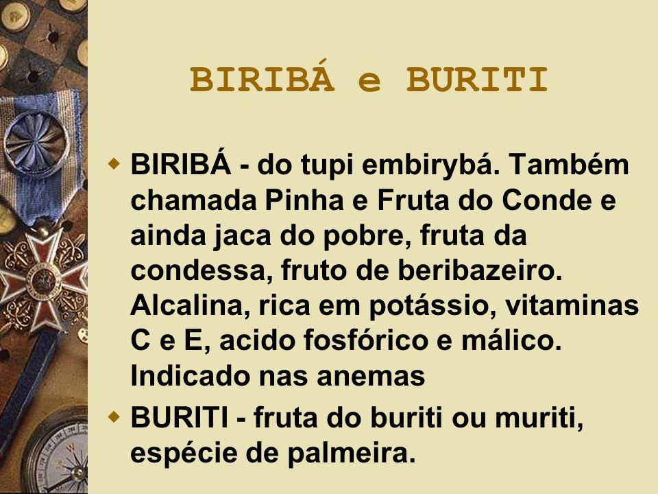 BIRIBÁ e BURITI