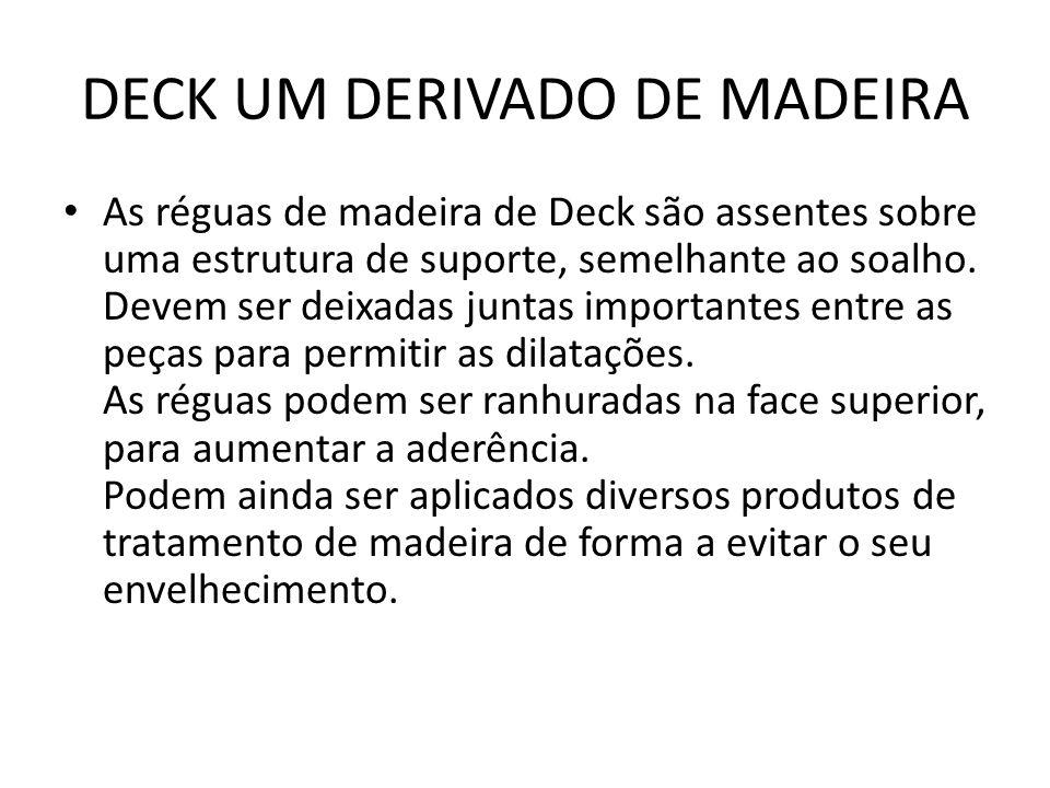 DECK UM DERIVADO DE MADEIRA