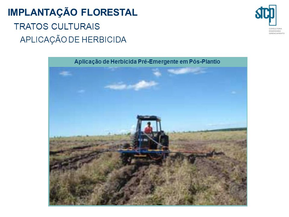 Aplicação de Herbicida Pré-Emergente em Pós-Plantio