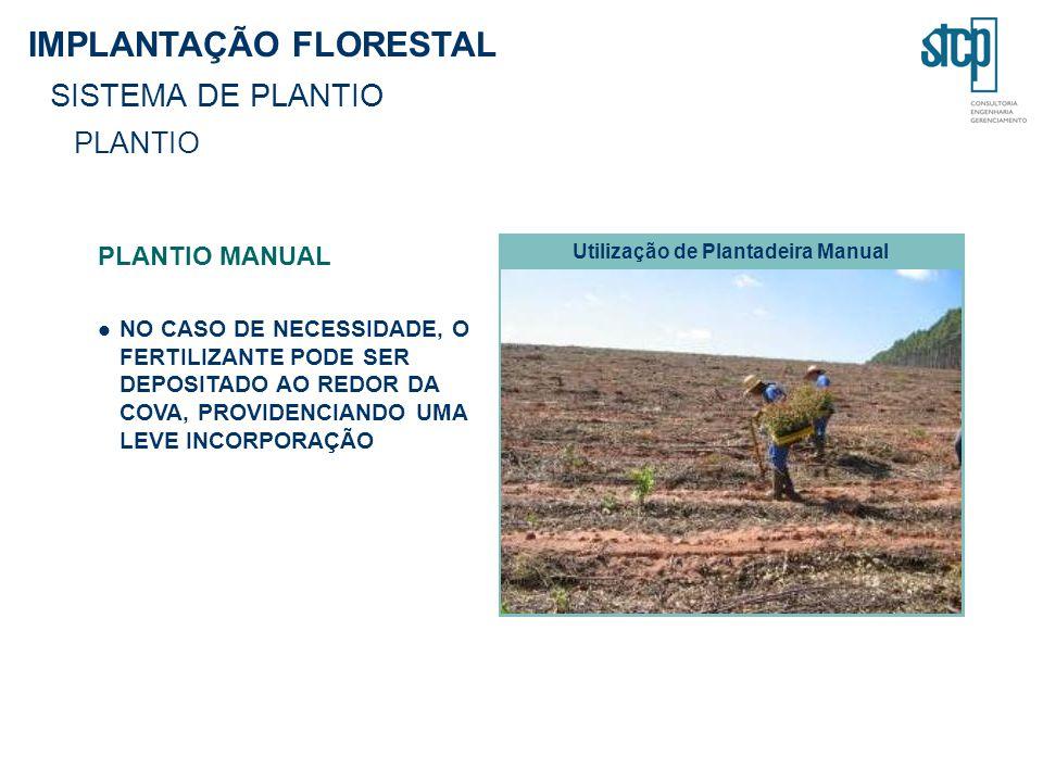 Utilização de Plantadeira Manual