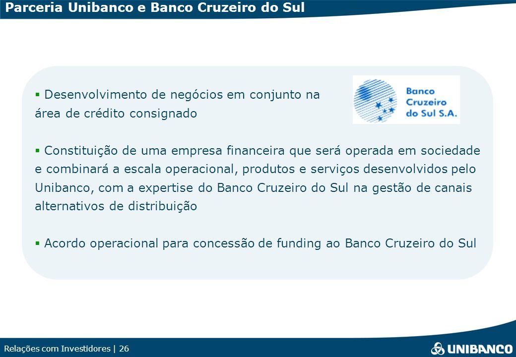 Parceria Unibanco e Banco Cruzeiro do Sul