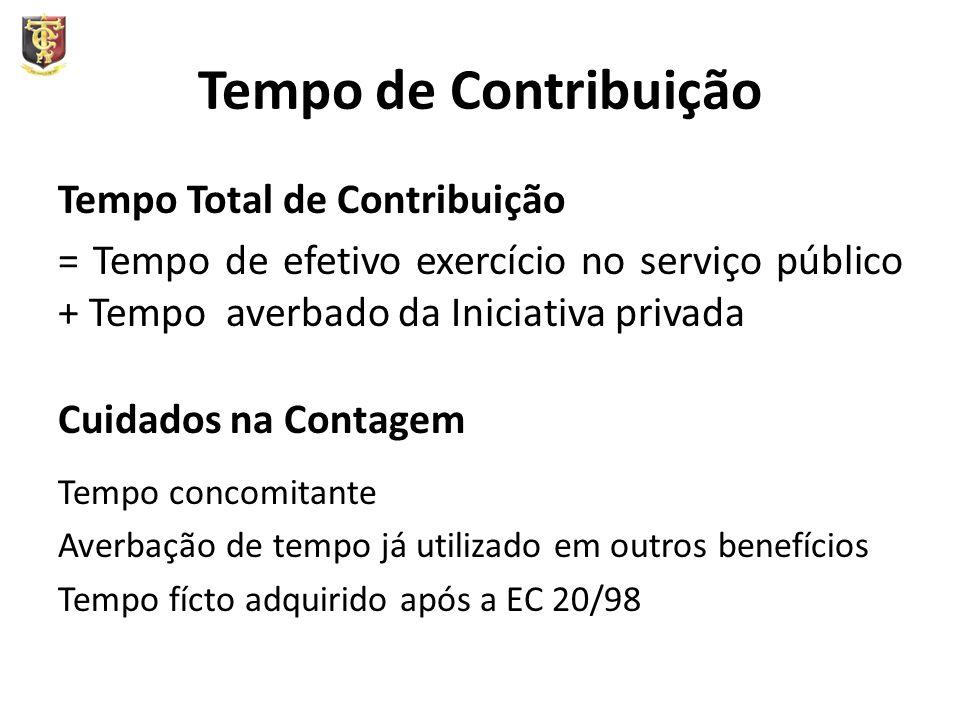 Tempo de Contribuição Tempo Total de Contribuição