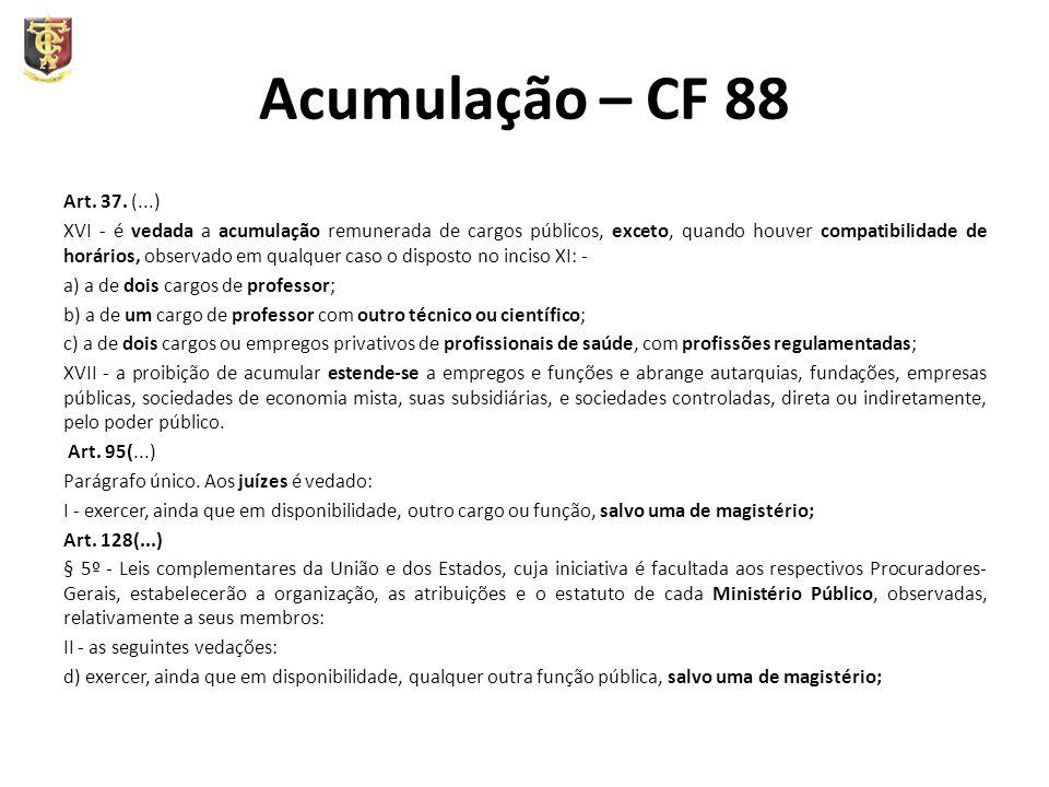 Acumulação – CF 88