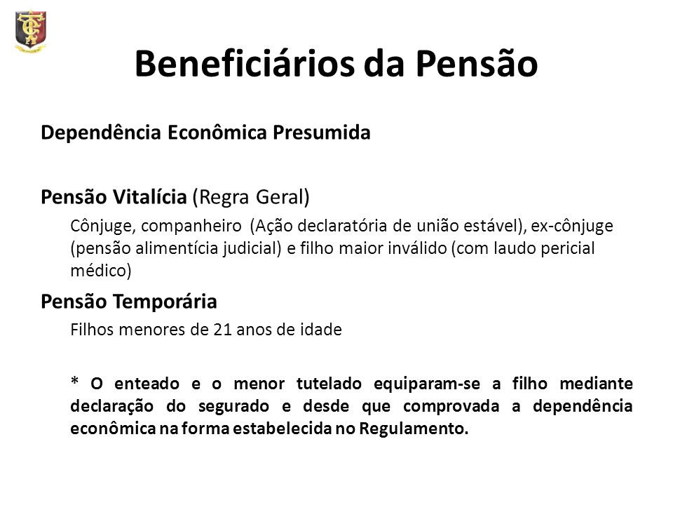 Beneficiários da Pensão