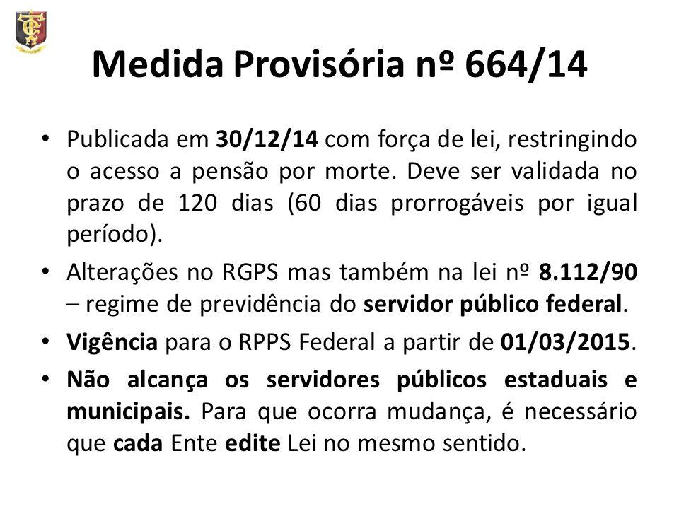 Medida Provisória nº 664/14