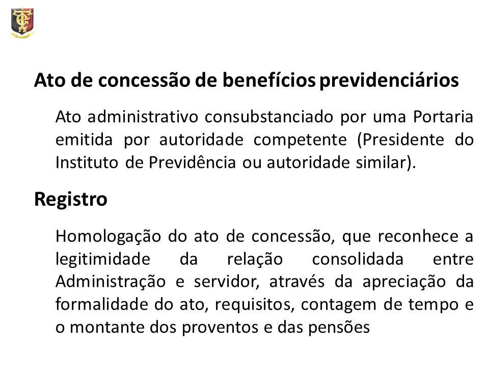 Ato de concessão de benefícios previdenciários