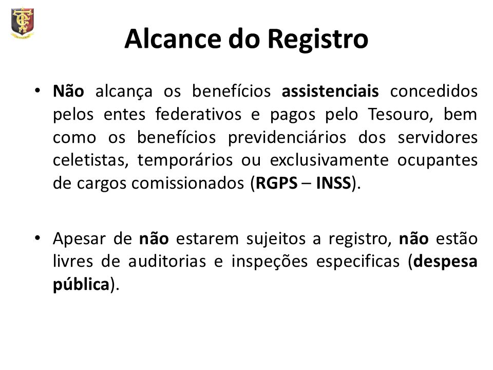 Alcance do Registro